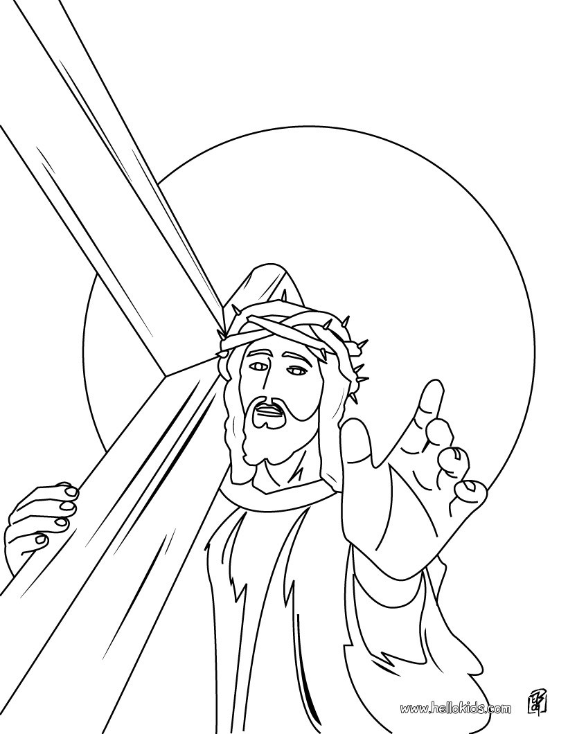 Religious Easter Coloring Pages 11 Online Jesus Coloring Books And Printables For Easter
