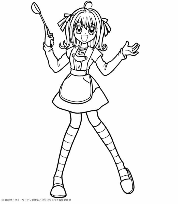 Luchia coloring page