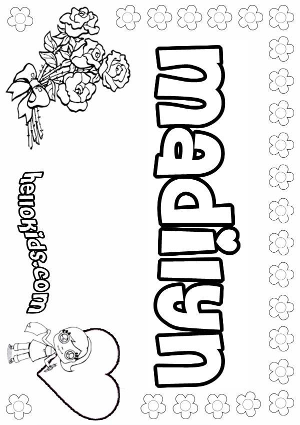 Madilyn coloring pages Hellokids