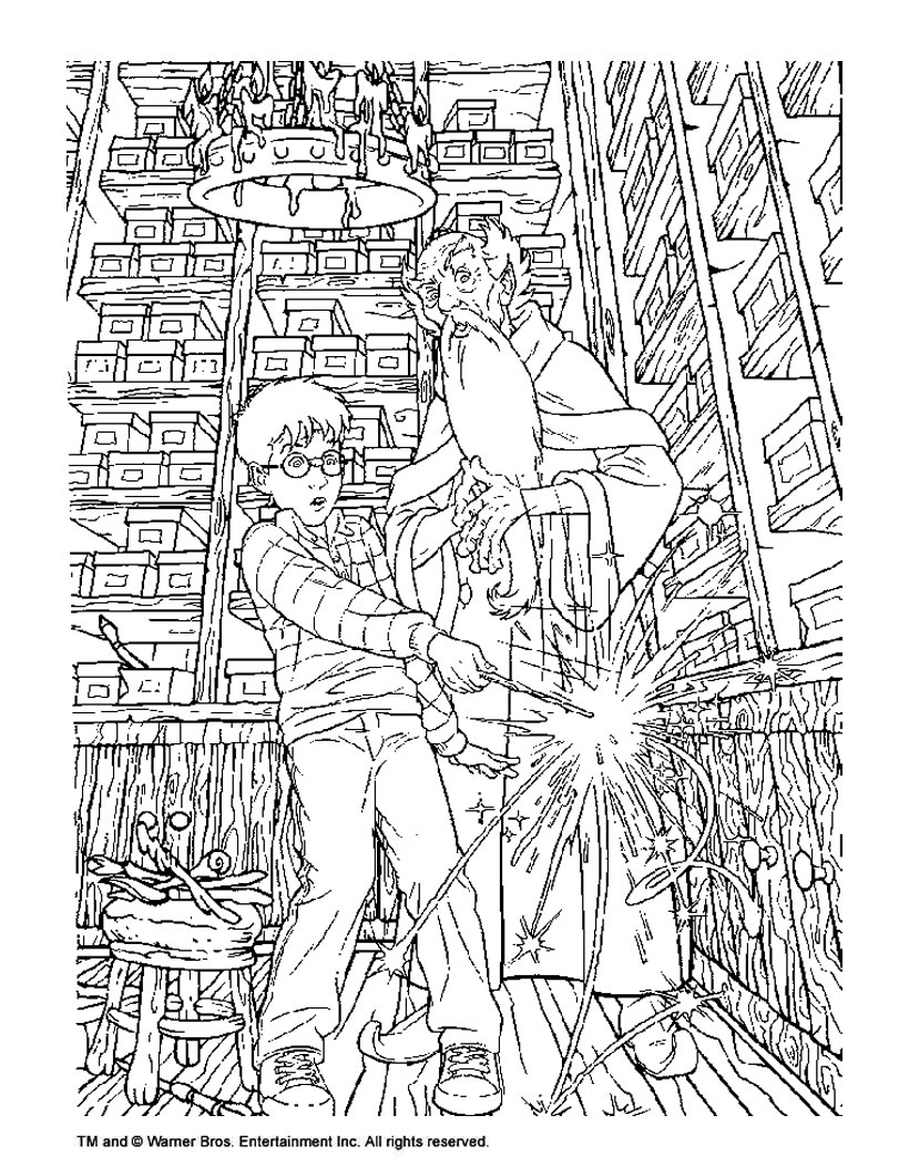 Albus dumbledore and harry potter coloring pages ...
