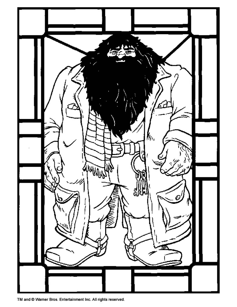 Hagrid coloring pages Hellokids