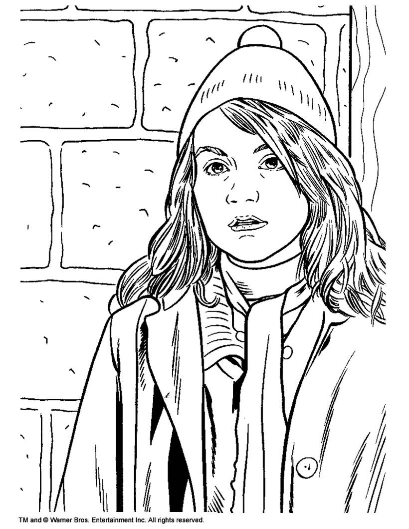 Hermione granger coloring pages - Hellokids.com