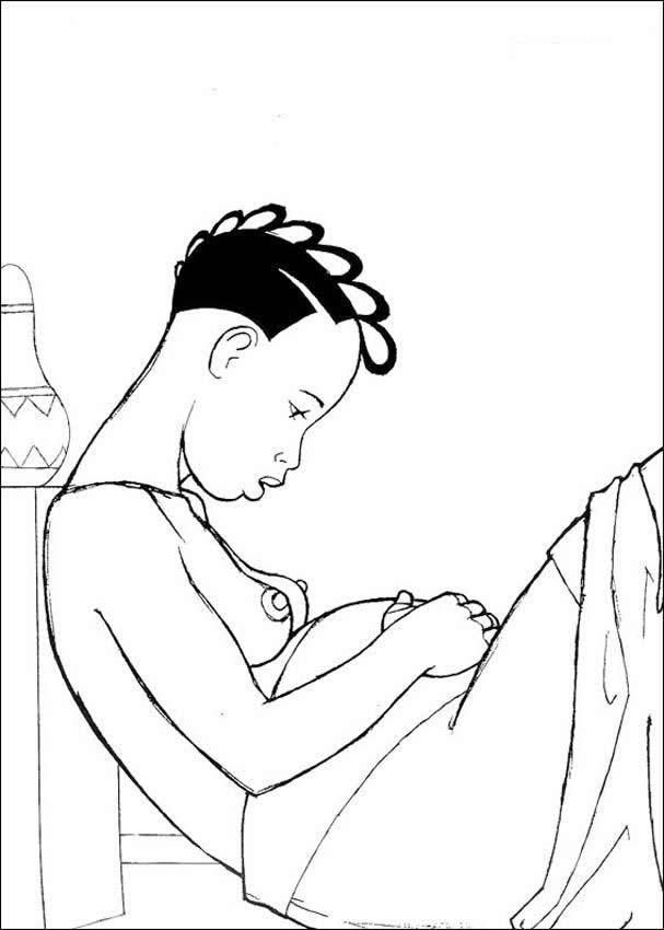 kirikou coloring pages - photo#2