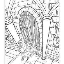 Ron with invisible cape coloring page - Coloring page - MOVIE coloring pages - HARRY POTTER coloring pages - RON WEASLEY coloring pages