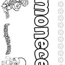 Mona Coloring Pages Hellokids Com Mona Coloring Page