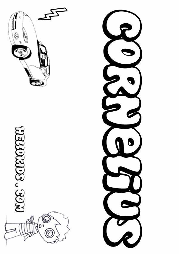 Cornelius Coloring Pages