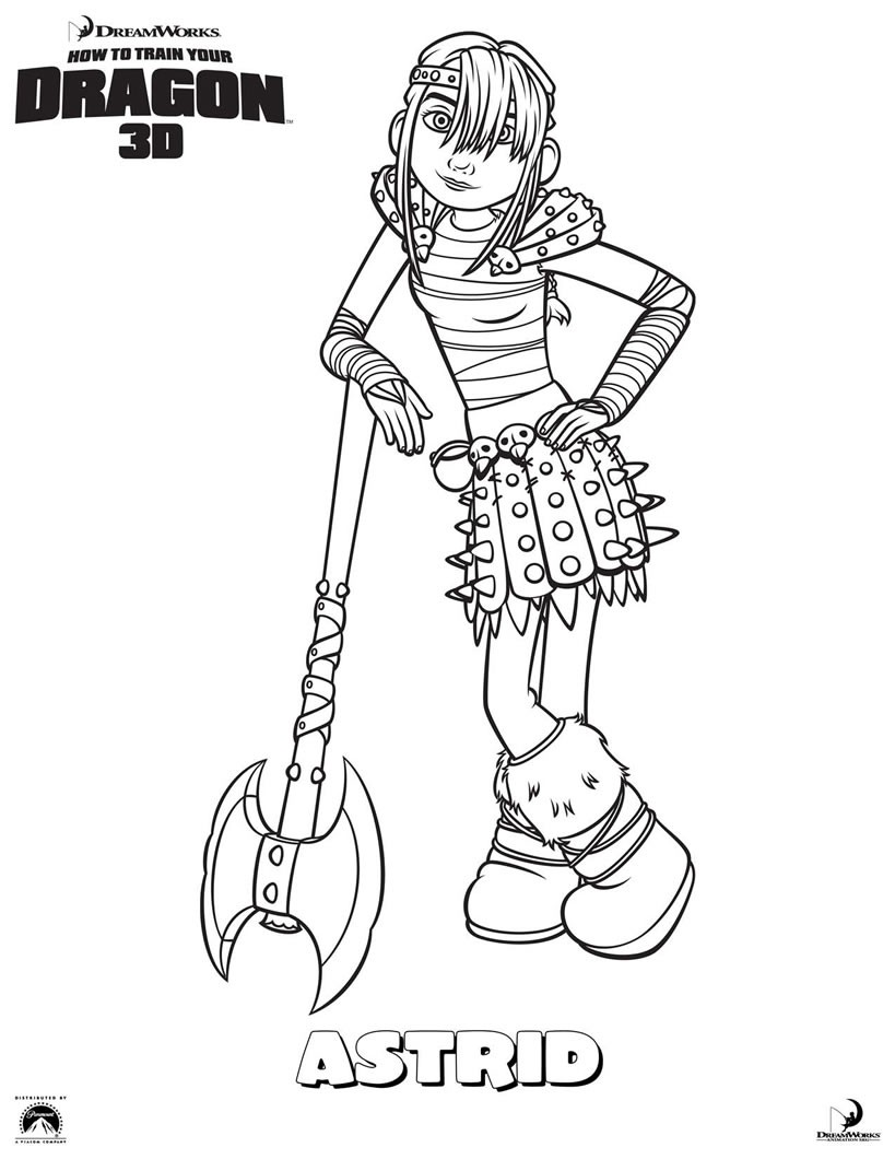 Astrid coloring pages - Hellokids.com