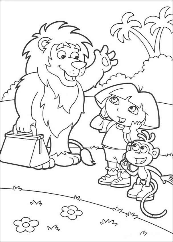 Goodbye Lion Coloring Pages Hellokids Com
