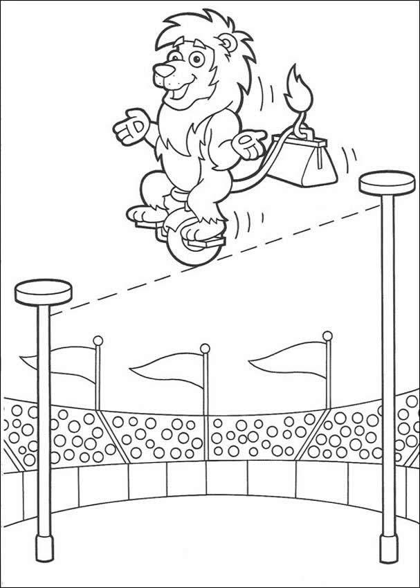 Lion the acrobat coloring pages - Hellokids.com