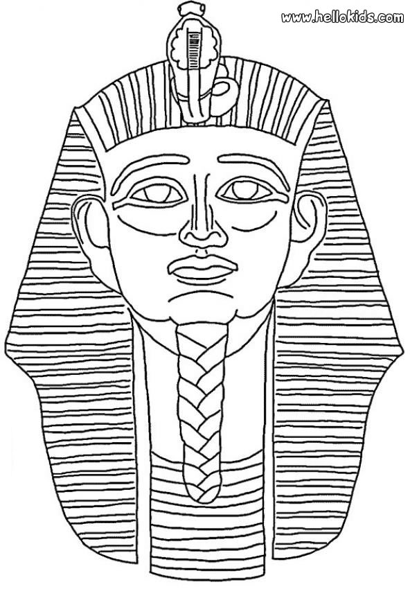 pharaoh mask coloring pages
