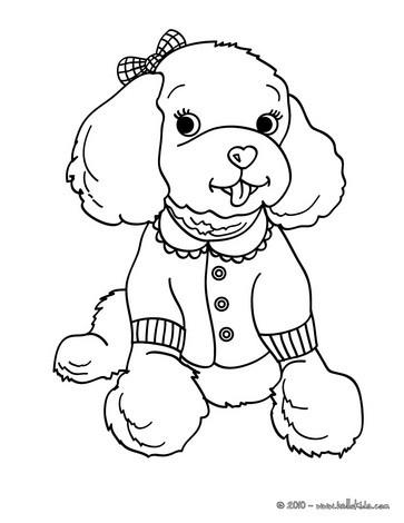 Poodle coloring pages Hellokidscom