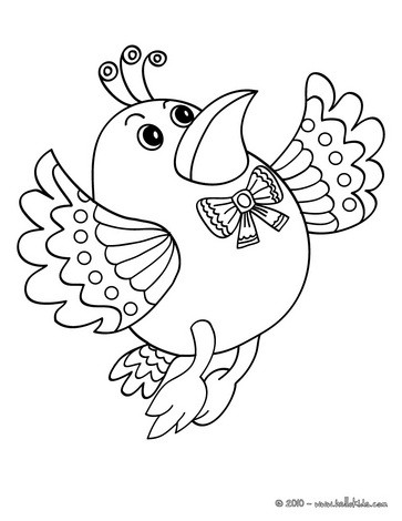 Kawaii bird coloring pages Hellokids