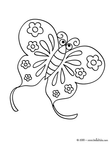 Kawaii butterfly coloring pages - Hellokids.com