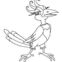 flying bird coloring pages hellokids com