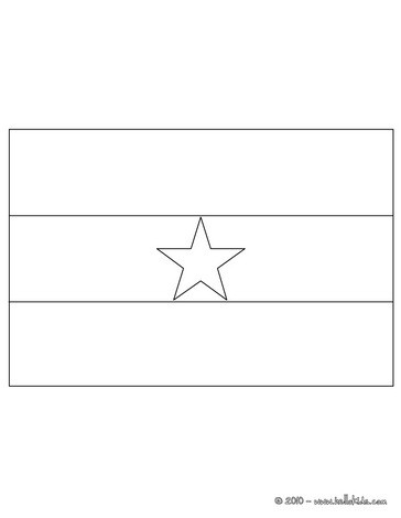 Flag of ghana coloring pages for Ghana flag coloring page