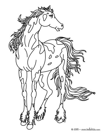 It's just a photo of Gorgeous wild horses coloring pages