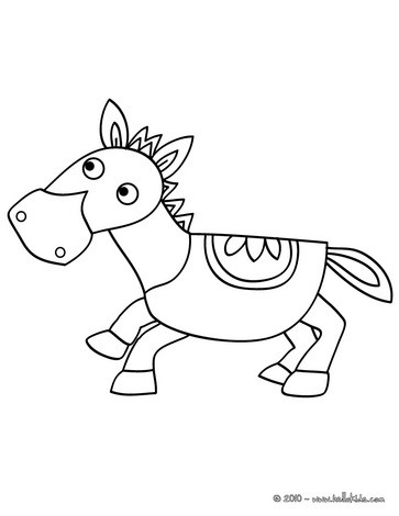 Funny pony coloring page