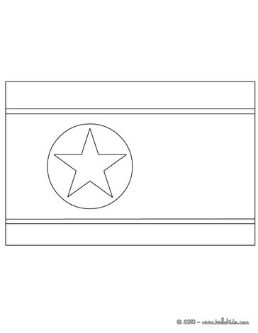 Flag Of Korea Dpr Coloring Pages