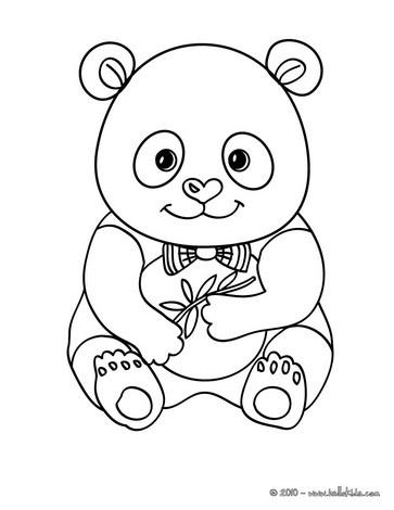 Cute panda coloring pages - Coloriage de panda kawaii ...