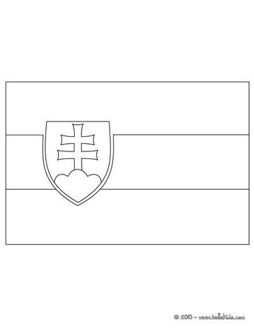 flag of slovakia flag of slovakia coloring page