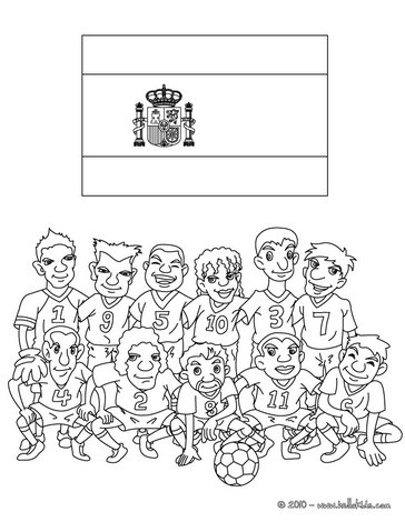 Team of Spain coloring page