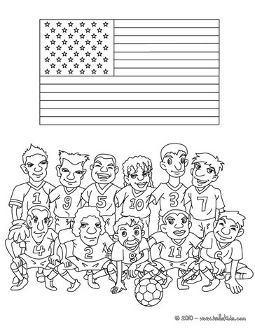 Team of United States coloring page