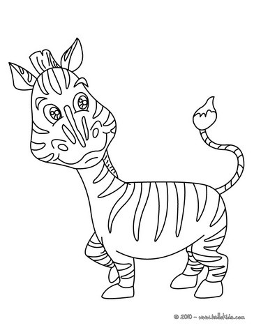 Zebra coloring pages  Hellokidscom