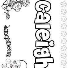 Caleigh - Coloring page - NAME coloring pages - GIRLS NAME coloring pages - C names for girls coloring sheets