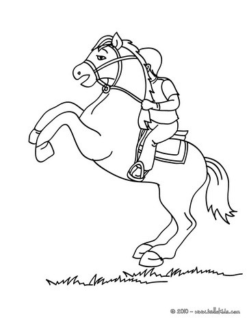 Man Training A Horse Kid On Coloring Page
