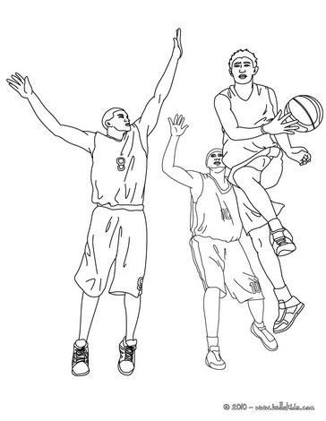 Basketball players in action coloring pages for Basketball player coloring page