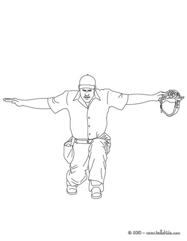 umpire coloring pages - photo#14