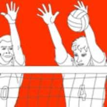 Sport, VOLLEYBALL zum Ausmalen