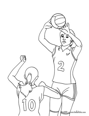 volleyball player coloring pages - volleyball passing action coloring pages