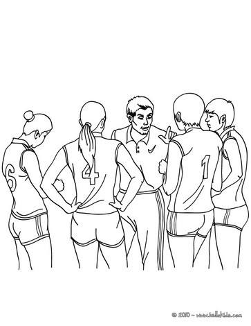 Volleyball Team Coloring Pages Hellokids Com