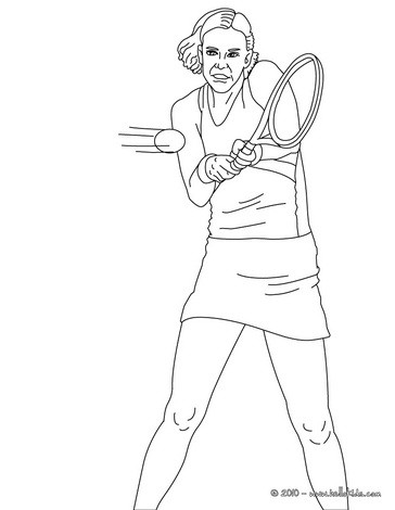 venus serena williams coloring pages | Lindsay davenport playing tennis coloring pages ...