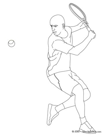 venus serena williams coloring pages | Nikolai davydenko playing tennis coloring pages ...
