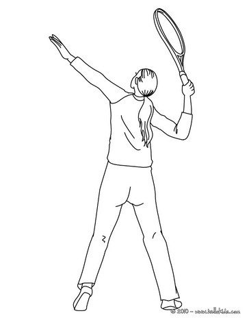 woman tennis player overhand serve