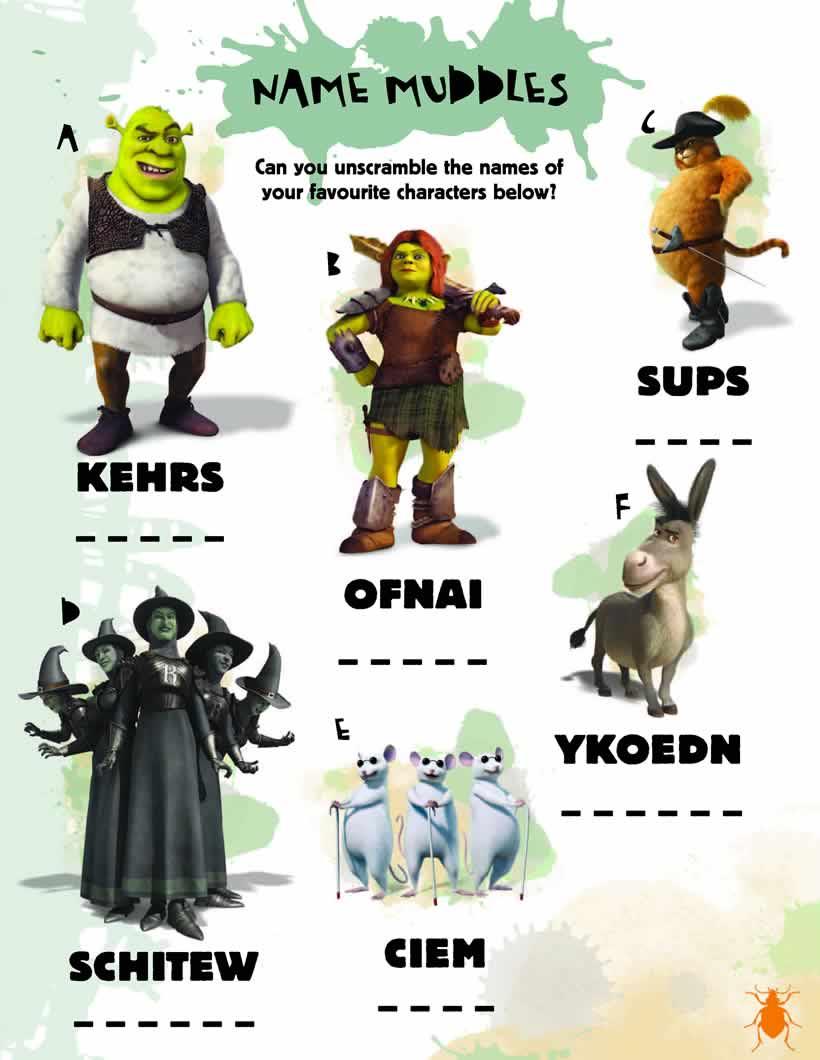 Shrek name muddles game