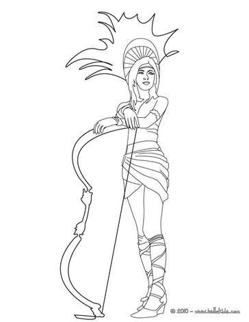 Inca princess coloring pages