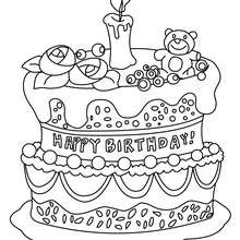 Birthday Cake Coloring Pages Hellokids Com
