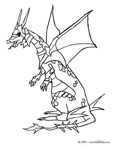 Dragon warrior coloring page