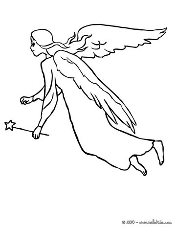 Fairy wings coloring page