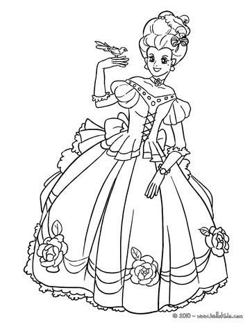 French princess coloring page