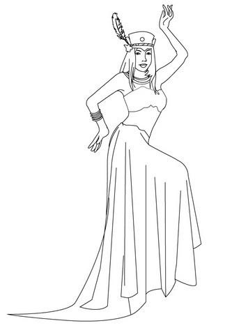 Comanche princess coloring page