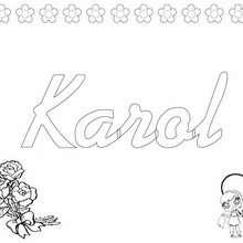 Karol - Coloring page - NAME coloring pages - GIRLS NAME coloring pages - K names for girls coloring posters