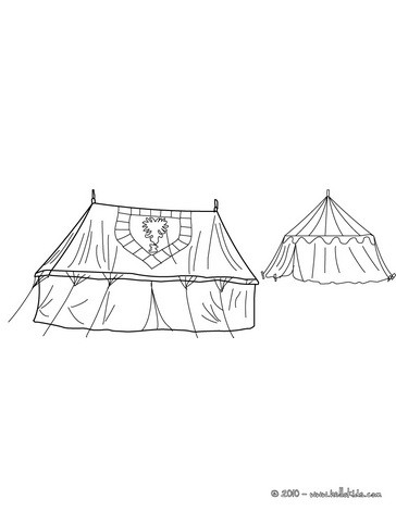Knighs Camp Coloring Page