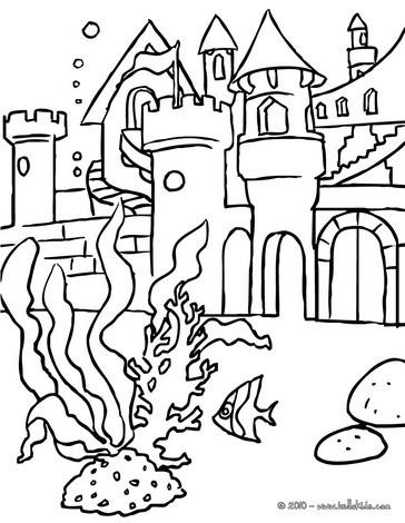 Mermaid's kingdom coloring page