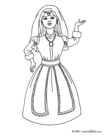 Morrocan princess coloring page