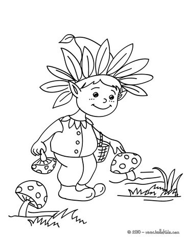 Plump elf coloring page