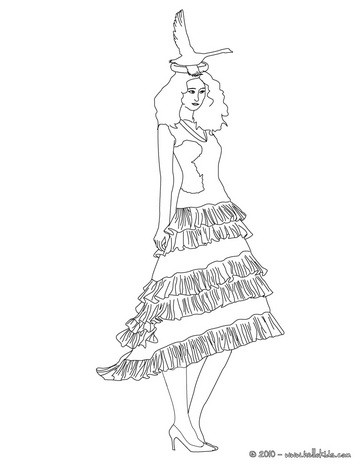 Well-dressed princess coloring page